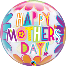 "Big Flowers Mothers Day Bubble Balloon (22"") 1pc"